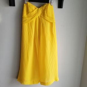 👗NICOLE MILLER SILK STRAPLESS DRESS